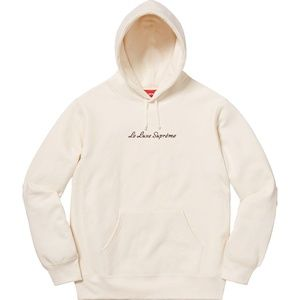 Supreme Le Luxe Hooded Sweatshirt Natural Size M